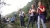 Alcuni partecipanti sulle trincee della Linea Cadorna