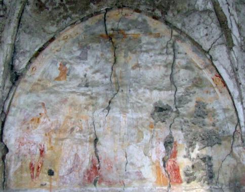 Affresco della chiesa di San Martino: stato attuale (2012)