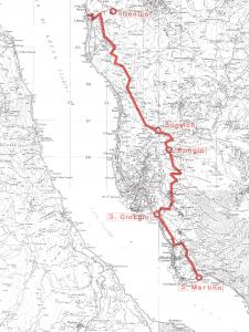 Cartina Sentiero del Viandante da Abbadia a Lierna