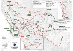 Cartina Sentieri territorio di Abbadia Lariana