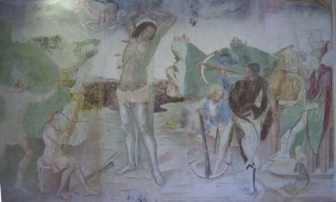 Chiesa di San Rocco a Villatico: martirio San Sebastiano