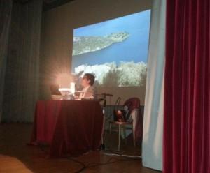 Un momento della conferenza di Giovanna Virgilio