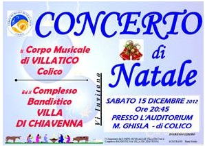 Locandina Concerto Corpo Musicale di Villatico