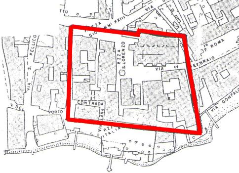 Fig. B Pianta probabile Castrum