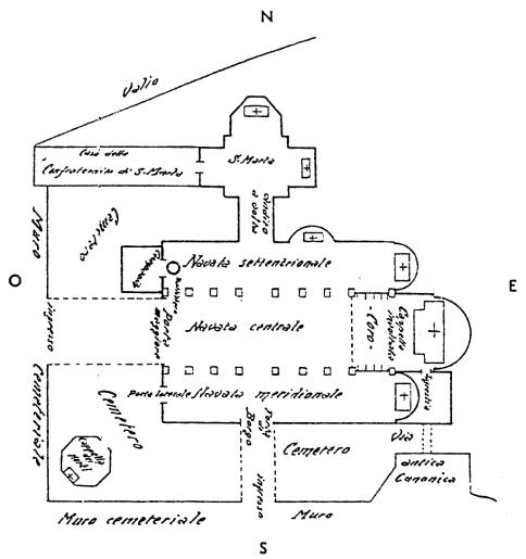 Fig. L - Pianta dell'antica arcipretale