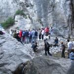 Arrivo del gruppo alla cascata