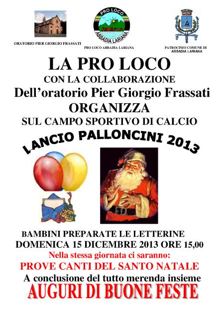 LANCIO PALLONCINI 2013