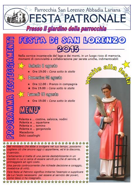 festa san lorenzo