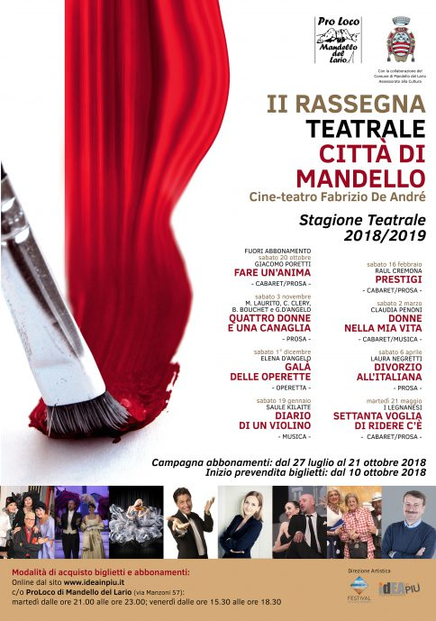 Seconda rassegna teatrale città di Mandello
