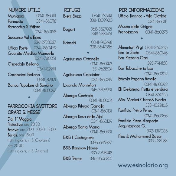 Numeri utili_Orari Messe_Commercianti